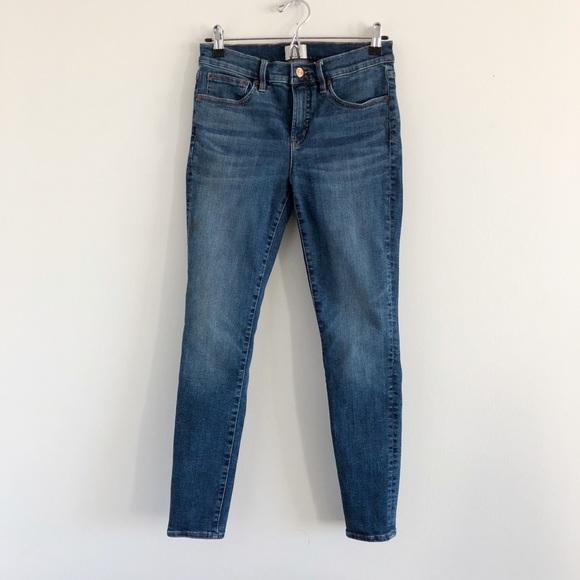 J. Crew Toothpick Skinny Jeans Ankle 28 Blue